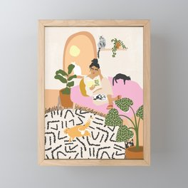 Crazy Cat Lady Framed Mini Art Print