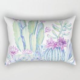 Mixed Cacti White #society6 #buyart Rectangular Pillow