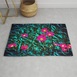 COQUETRY FLORAL (green variation) Rug