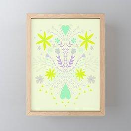 Symmetrical flora Framed Mini Art Print