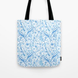 Mermaid Toile - Blue Tote Bag
