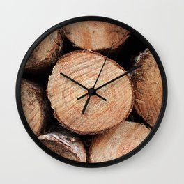 Sawn logs Wall Clock