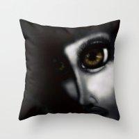 focus Throw Pillows featuring Focus by ShaylahLeigh