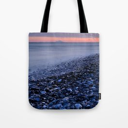 """""""Shiny rocks"""" At pink sunset. Spain, Gibraltar and Africa in one photo. Tote Bag"""