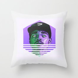 Chance The Rapper Minimal Hipster Throw Pillow