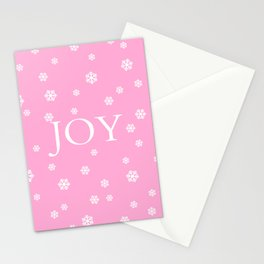 Winter Joy - pink - more colors Stationery Cards