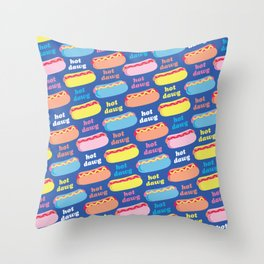 Hot Dawg Throw Pillow