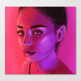 NEON PINK Canvas Print
