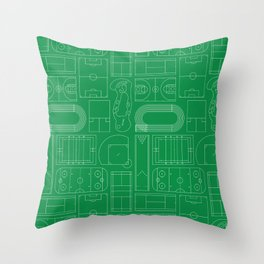 Sport Courts Pattern Art Throw Pillow