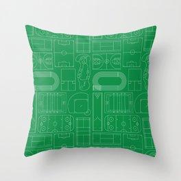 Sport Courts Pattern Art Throw Pillow