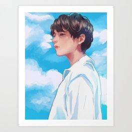 Taehyung FAKE LOVE Art Print