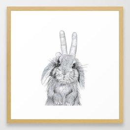 bunny ears! Framed Art Print