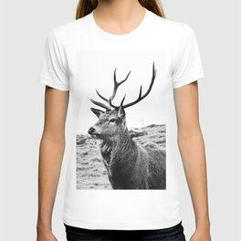 The Stag on the hill - b/w T-shirt