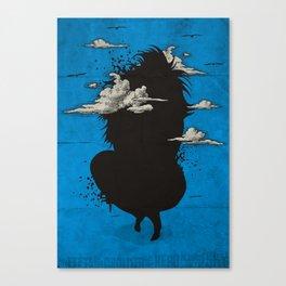 My head always in the sky... Canvas Print