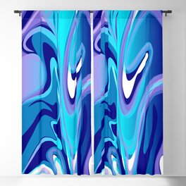 Liquify in Turquoise, Lavender, Purple, Navy Blackout Curtain