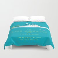 steve zissou Duvet Covers featuring The Life Aquatic with Steve Zissou by steeeeee