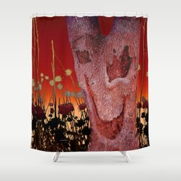 A Spook in the Thistles Shower Curtain