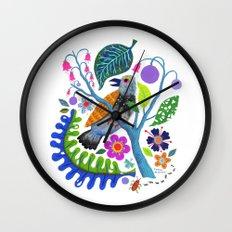 Bird Botanical Wall Clock