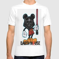 Darth Mouse Mens Fitted Tee White MEDIUM