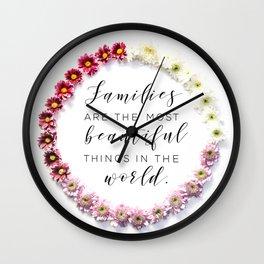 Beautiful Families Wall Clock