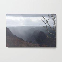 Waimea Canyon in Mist Metal Print
