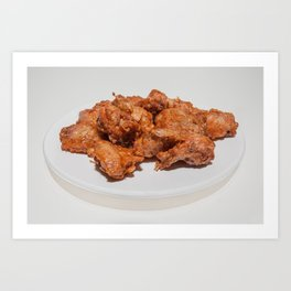 fried chicken wings Art Print
