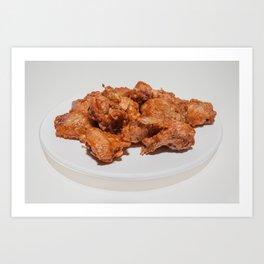 fried chicken wings Art Print