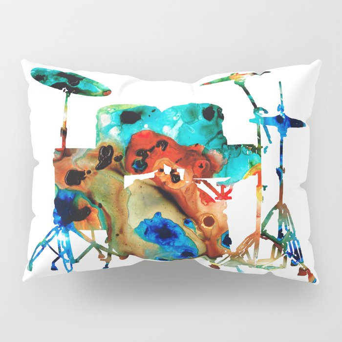The Drums - Music Art By Sharon Cummings Pillow Sham