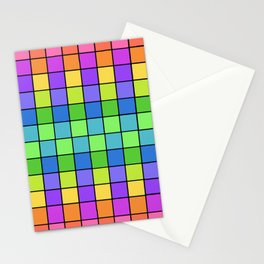 Pastel Chex Stationery Cards