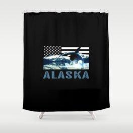 Alaskan Orca Shower Curtain