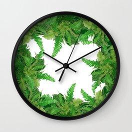 DECORATIVE  FERNS GARDEN ART Wall Clock