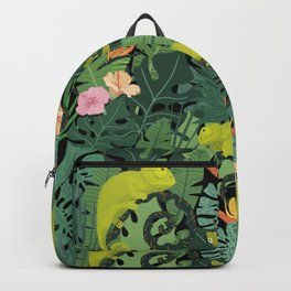 Chameleons And Salamanders In The Jungle Pattern Backpack