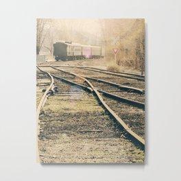 Railroad Crossing Metal Print