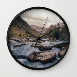 Blue River in Snowdonia Wales Wall Clock