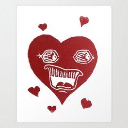 Heartache Art Print