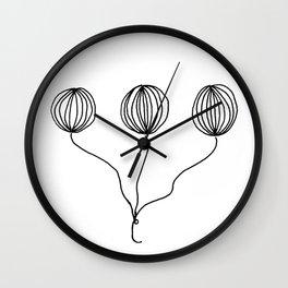 Whimsical Balloon Drawing by Emma Freeman Designs Wall Clock