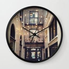 Coffee in Lights Wall Clock