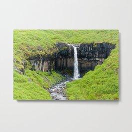 Svartifoss Waterfall - Iceland Metal Print