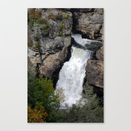 Linville Falls in fall Canvas Print