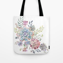 succulent watercolor 6 Tote Bag