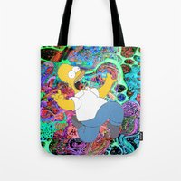 homer Tote Bags featuring HOMER by Fernando P.