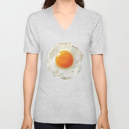 Fried Egg Polygon Art Unisex V-Neck