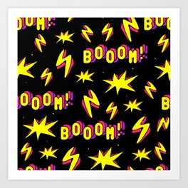 Boom! / Black Art Print