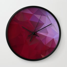 POPPY RED AND LILAC LOWPOLY Wall Clock