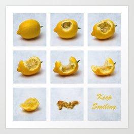 Lemon - Keep Smiling Art Print