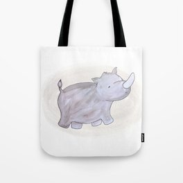 Animal Tales - Rhino in watercolor Tote Bag