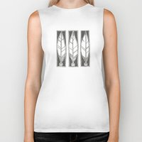 ethnic Biker Tanks featuring Ethnic Feathers by rob art | simple