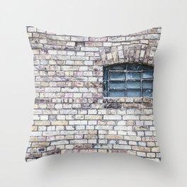 windows Stone walls Throw Pillow