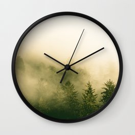 Redwood Rising - Nature Photography Wall Clock