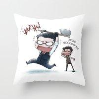 jojo Throw Pillows featuring JOJO NOOOOO by Yiji